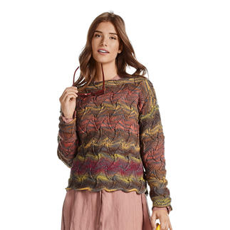 Anleitung 020/0, Pullover, 2-fädig aus Weekend-Stripes von Junghans-Wolle