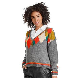 Anleitung 161/0, Pullover aus Monello-90 Uni von Junghans-Wolle