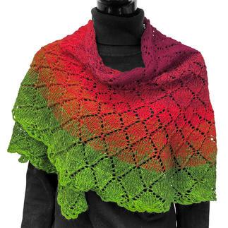 Anleitung 241/0, Tuch ca. 180 cm x 80 cm aus Bobbel Merino Mix von Woolly Hugs
