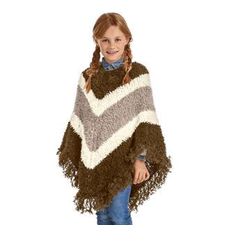 Anleitung 310/0, Kinder-Poncho aus Pellini von Junghans-Wolle