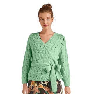 Anleitung 315/0, Jacke mit Gürtel aus Arequipa von Junghans-Wolle