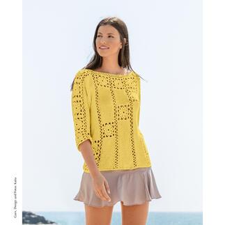 Anleitung 075/1, Pullover aus SeaCell Cotton von Katia