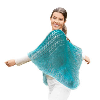 Anleitung 090/1, Poncho aus Lace von Woolly Hugs