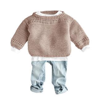 Anleitung 129/1, Babypullover aus Merino-Extrafein von Junghans-Wolle