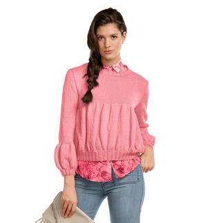 Anleitung 208/1, Pullover aus Fluffina von Junghans-Wolle