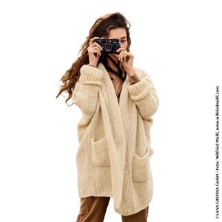 Anleitung 349/1, Jacke aus Alpaca Moda von Lana Grossa