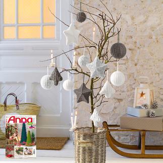 Anleitung 859/5, Komplettpackung Weihnachtsschmuck aus Katina von Junghans-Wolle