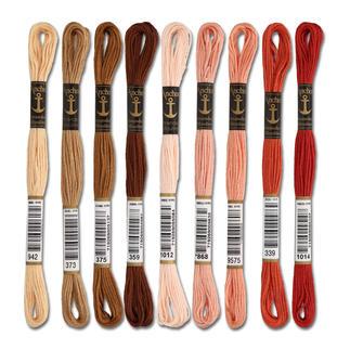 Anchor-Sticktwist Braun/Rot/Beige Sie haben eine riesige Farbauswahl. Erleben Sie den Spaß an kreativer Handarbeit mit brillanten Farben.