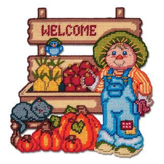 Wandbehang - Farmerstand Herbstzeit ist Kürbiszeit.