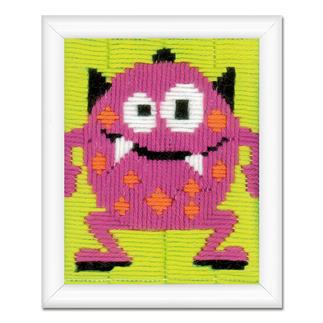 Stickbild - Kleines Monster Bunte Stickideen für das Kinderzimmer.
