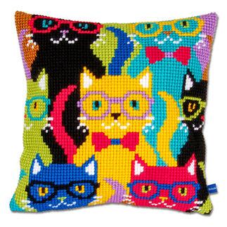 Kreuzstichkissen - Bunte Katzen Tierisch gut – Alles rund um die Katze.