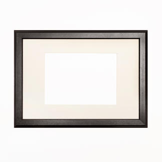 Bilderrahmen, Schwarz mit Passepartout, Ausschnitt 28 x 20 cm Bilderrahmen, Schwarz mit cremefarbenem Passepartout