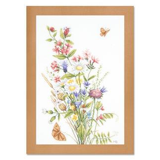Stickbild - Feld- und Wiesenblumen