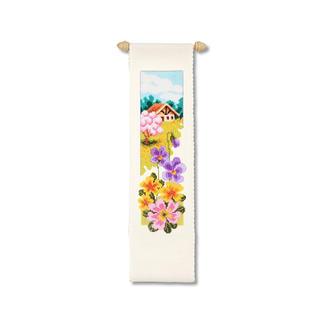 Wandbehänge mit Zierstange - Jahreszeiten