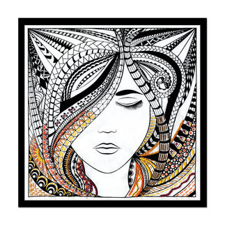 Stickbild - Woman Zenbroidery – Die Kunst des freien Stickens