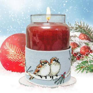 Kerzen-Corsage - Wintervögel Kreative Geschenkideen
