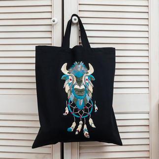 Stick-Tasche - Traumfänger-Büffel