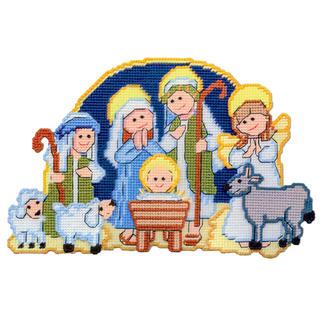 Wand- oder Türdeko - Weihnachtskrippe Zeitlose Weihnachts-Klassiker.