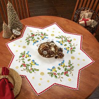 Tischdecken mit Spitze - Stern, Creme Zeitlose Weihnachts-Klassiker