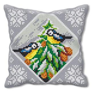 Kreuzstichkissen - Vogel-Idylle Kreuzstichkissen – der beliebte Klassiker.