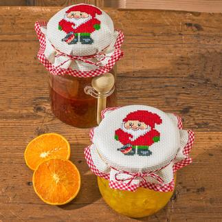 2 Marmeladenglas-Deckchen im Set - Wichtel Die skandinavische Weihnachtstradition: putzige Wichtel.