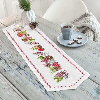 Tischläufer - Weihnachts-Ornamente Stickideen für die schöne Weihnachtszeit
