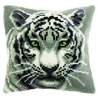 Kreuzstichkissen - Weißer Tiger Stick-Ideen zur Winterzeit