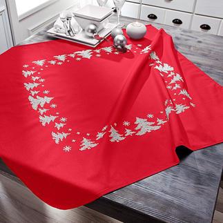 Tischdecke - Winterwald, Rot Easy Stitching – besonders einfache und schnelle Stick-Ideen.