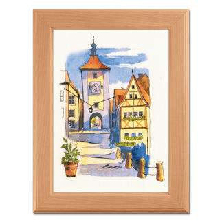 Paint by threads - Rothenburg Paint by threads – Sticken mit 3D-Effekt.