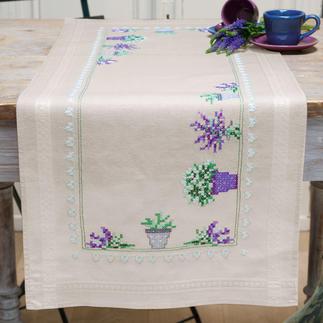 Tischläufer - Lavendel Lavendel, Tischläufer im trendigen Natur-Look.
