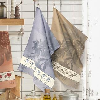Jacquard-Geschirrtücher zum Besticken - Flowers