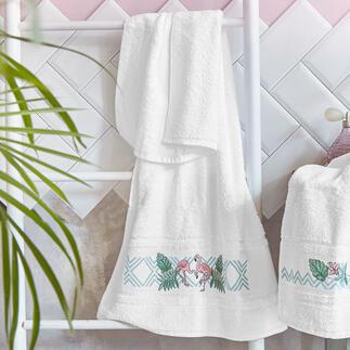 Frottiertücher Flamingos Frottiertücher für Ihr schönes Bad.