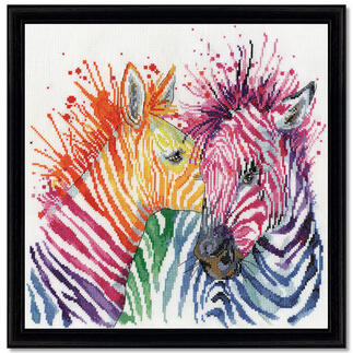 Stickbild - Colorful Zebras