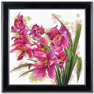 Stickbild - Orchideen No count cross stitch