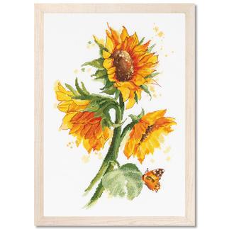 Stickbild - Sonnenblumen