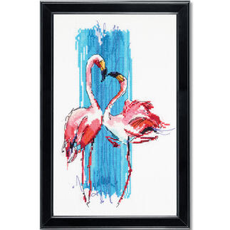 Stickbild - Rosa Flamingos