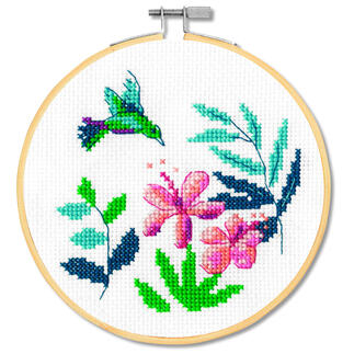 Stickbild - Exotische Blumen