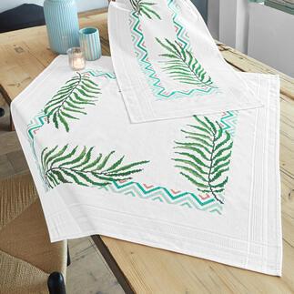 Kreuzstich-Tischwäsche - Palmenblätter