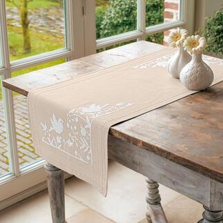 Tischläufer - Weiße Vögel
