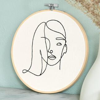 Stickbild - Line Art Woman Trendthema Line Art