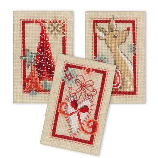 3 Weihnachtskarten im Set