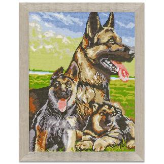 Klassisches Gobelinbild - Schäferhunde