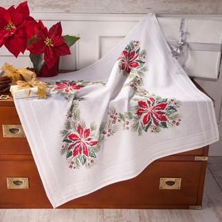 Tischwäsche mit eingewebtem Zierrand - Weihnachten