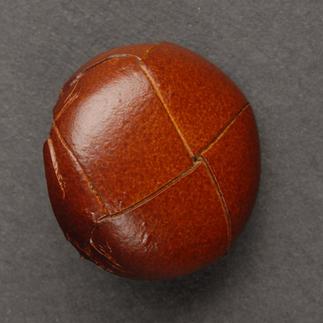 Klassischer Lederknopf, Braun, Ø 20 mm, 1 Stück