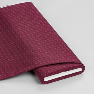 Meterware - Pusteblume, Bordeaux Retro-Muster - Mustermix und Farben bringen frischen Look
