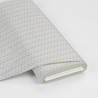 Meterware - Dots, Weiß Kunterbuntes Kinderzimmer in fröhlich buntem Mustermix