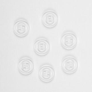 Wäscheknöpfe, Transparent, 18 Stück. Ø 1,5 cm Wäscheknöpfe