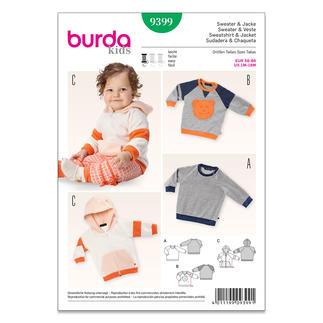 Burda Schnitt 9399 - Sweater & Jacke