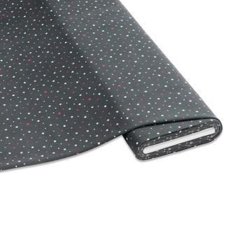 Meterware Baumwoll-Jersey - Sterne, Grau Stylische Sternendrucke für Ihre individuellen Näh-Ideen