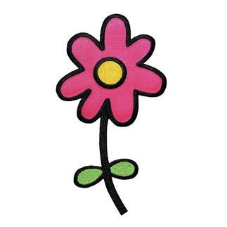 Applikation Blume groß pink Applikation - Blume